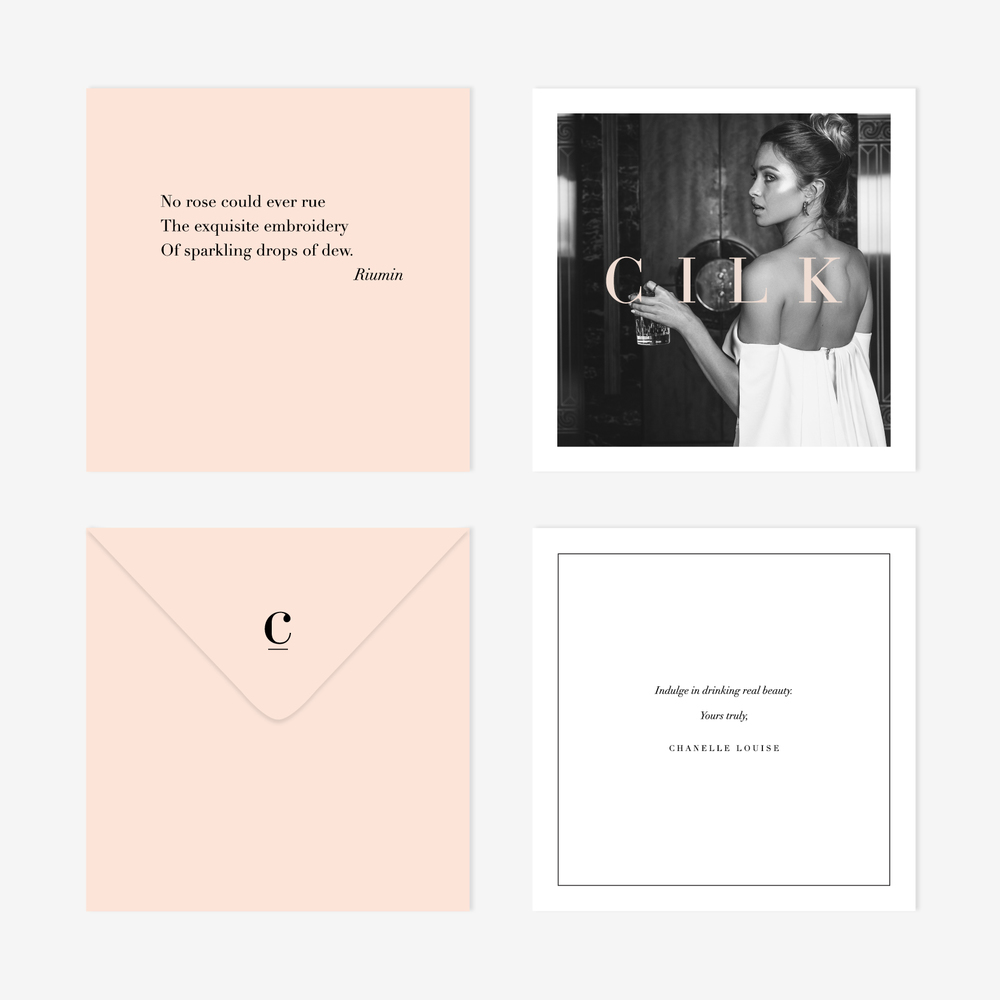 Cilk Rose Water | Branding Collateral | Georgie McKenzie Graphic Design