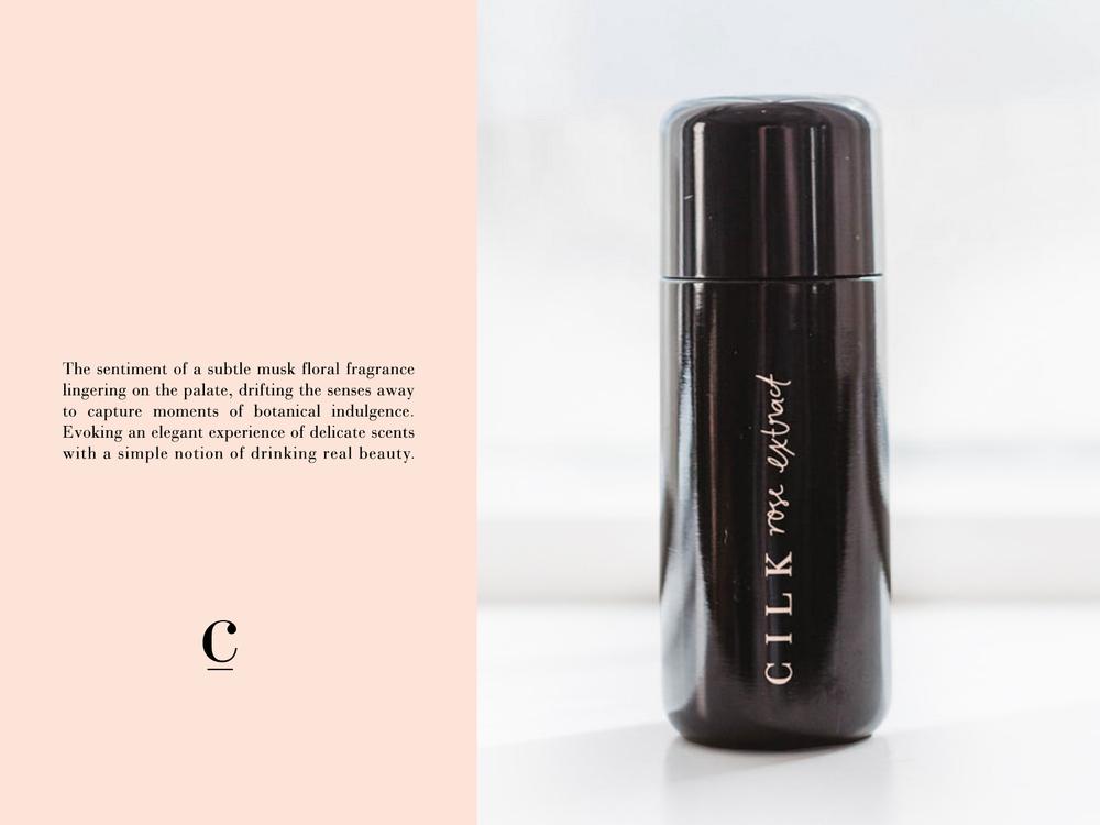 Cilk Rose Water | Branding Packaging | Georgie McKenzie Graphic Design
