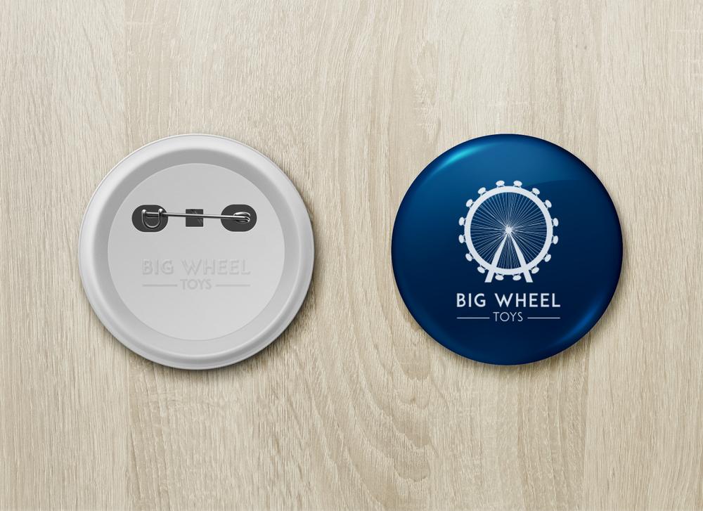Georgie McKenzie Graphic Design | Portfolio | Big Wheel | Pin Button