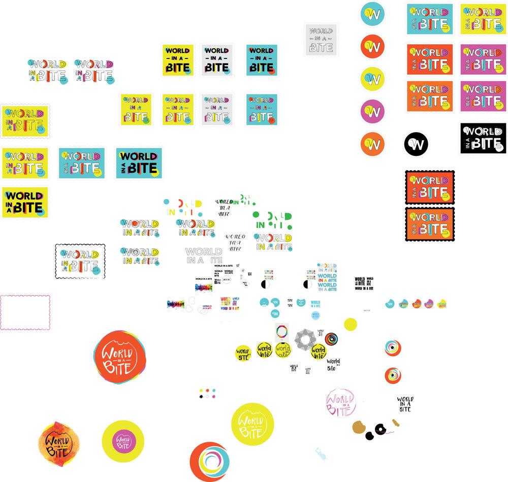 Georgie McKenzie Graphic Design | World in a Bite Logo Development