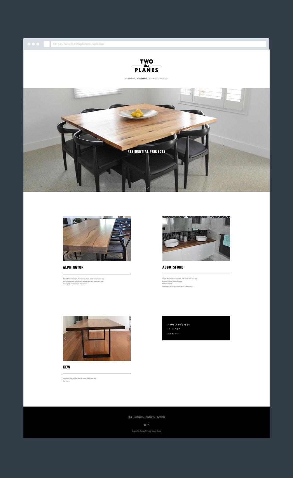 Georgie McKenzie Graphic Design | Two Planes Furniture