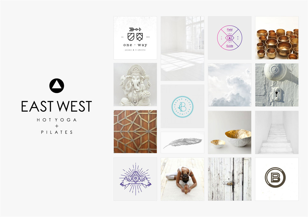 Georgie McKenzie Graphic Design | Blog | Moodboard | East West Hot Yoga Pilates