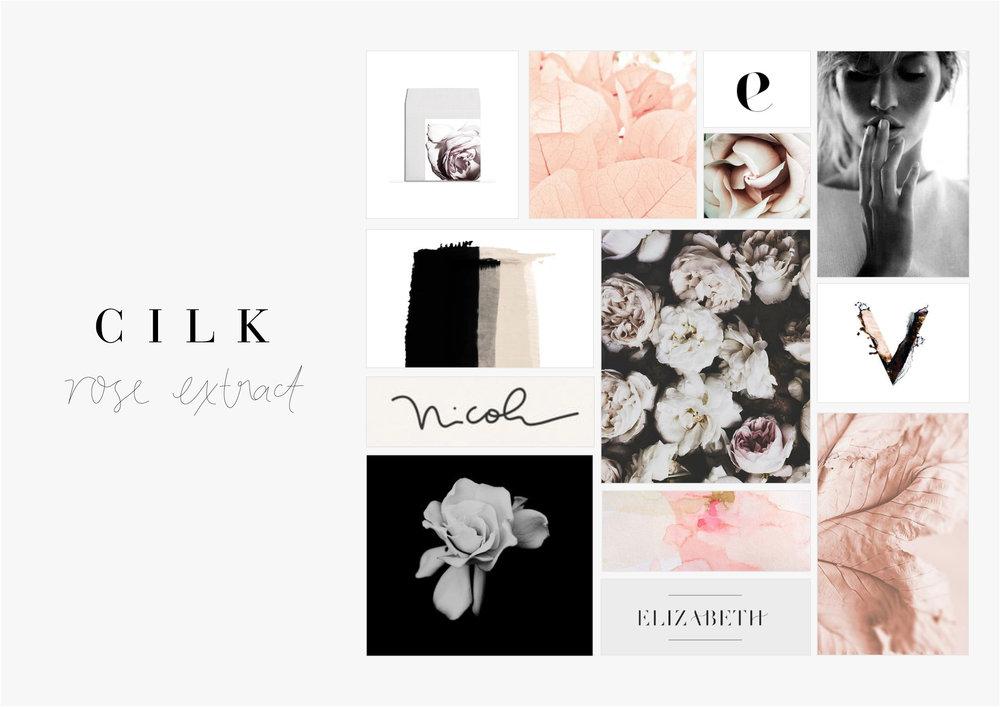 Georgie McKenzie Graphic Design | Blog | Moodboards | Brand - Cilk Rose Extract