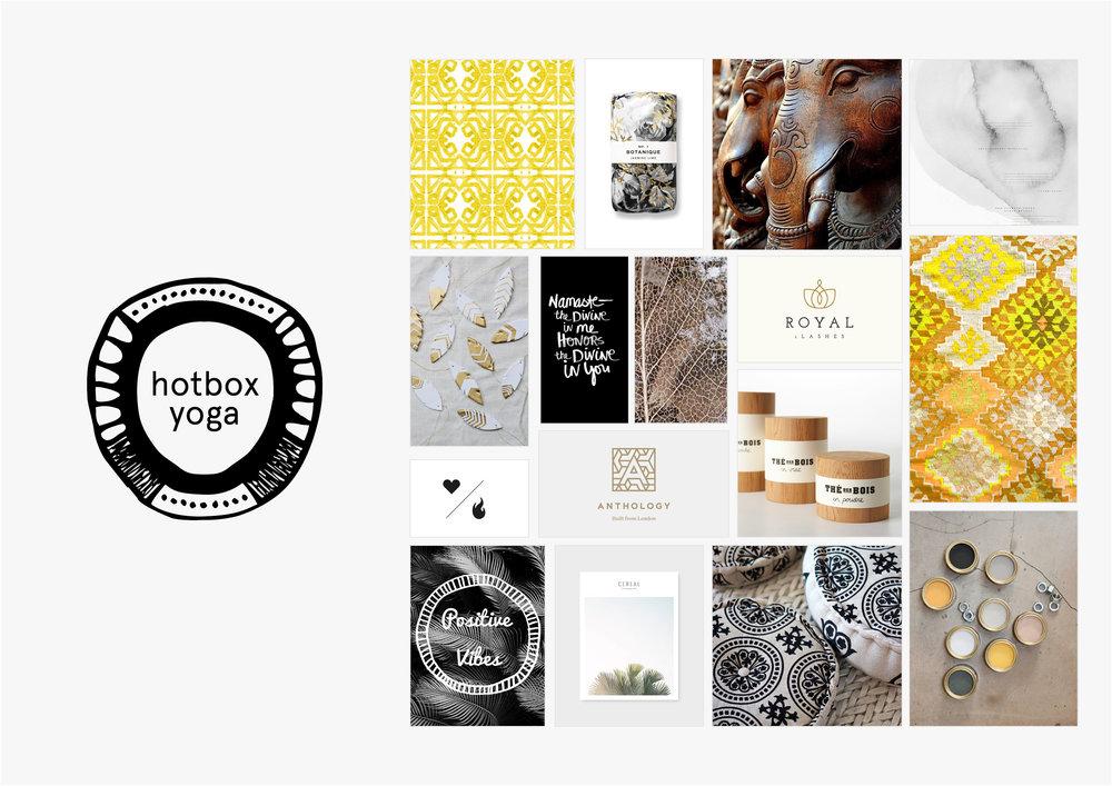 Georgie McKenzie Graphic Design | Blog | Moodboards | Brand - Hotbox Yoga
