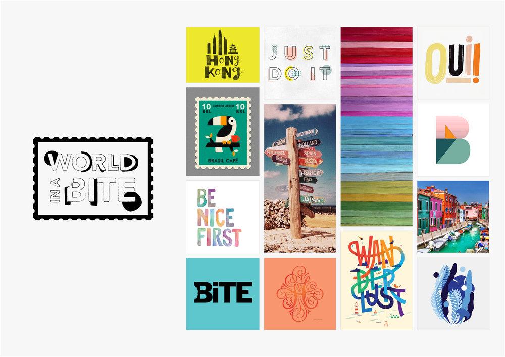 Georgie McKenzie Graphic Design | Blog | Moodboards | Brand - World in a Bite