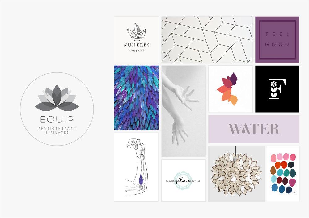 Georgie McKenzie Graphic Design | Blog | Moodboards | Brand - Equip Physiotherapy