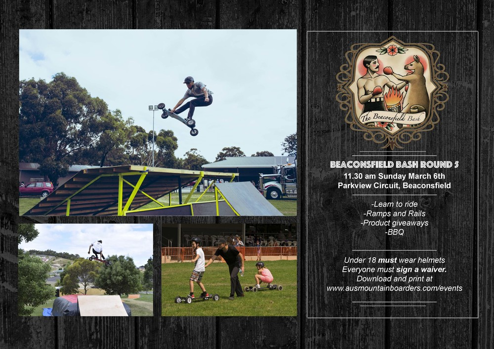 Thats right folks! Everyones favourite event The Beaconsfield Bash is back again! Come down to Beaconsfield this Sunday!   EVERYONE MUST DOWNLOAD AND FILL OUT THE WAIVER HERE    2015 Beaconsfield Bash Waiver