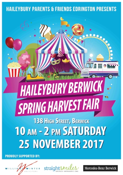 Write the 25th of November in your diary now!!!  We will be teaching Mountainboarding at Haieybury College's famous Spring Harverst Fair! Come down for a family fun day! There will be many great attractions and food trucks! Including Beaconsfield's favorite Coffee van Combi Capers.  We will be teaching lessons at 10.30am, 11.45am, 12.30pm and 1.15pm.  Boards and protective gear will be provided. Just bring closed toe shoes :)  SEE YOU THERE!