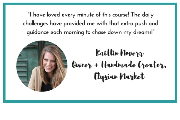 Grit and Glitter Co. | REinspired course | 28 day inspiration binge for the girl boss who feels stuck | Kaitlin Noverr testimonial