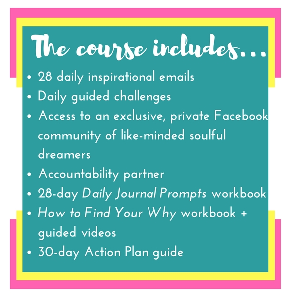 Grit and Glitter Co. | REinspired course | 28 day inspiration binge for the girl boss who feels stuck | The course includes...