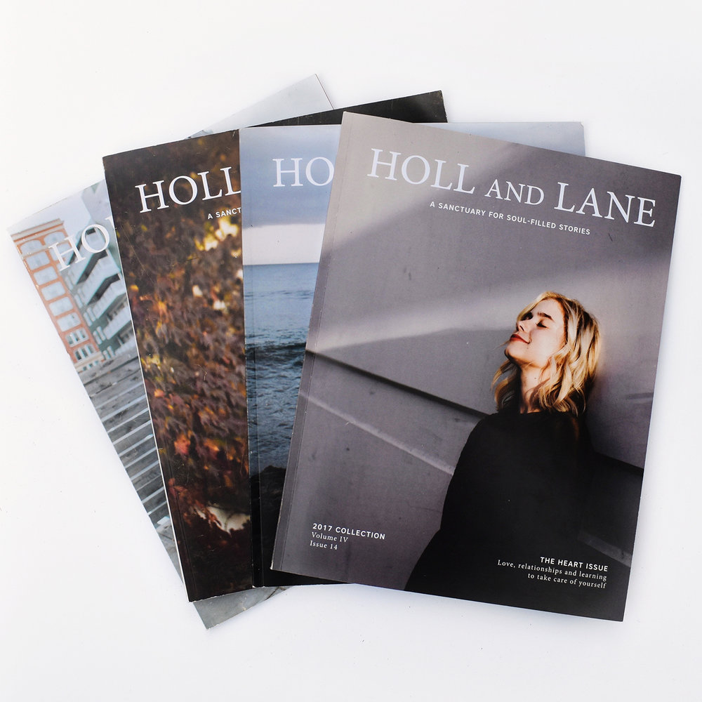 Grab the latest issue of Holl and Lane! - In the 14th issue of Holl & Lane, the focus is on The Heart. Within this issue, you'll find true stories of romantic love, heartbreak, self-love, familial love, and so much more.  These pages showcase a wide range of stories on this one particular topic.  All related in their common theme, but yet so very different and inspiring in their own way.