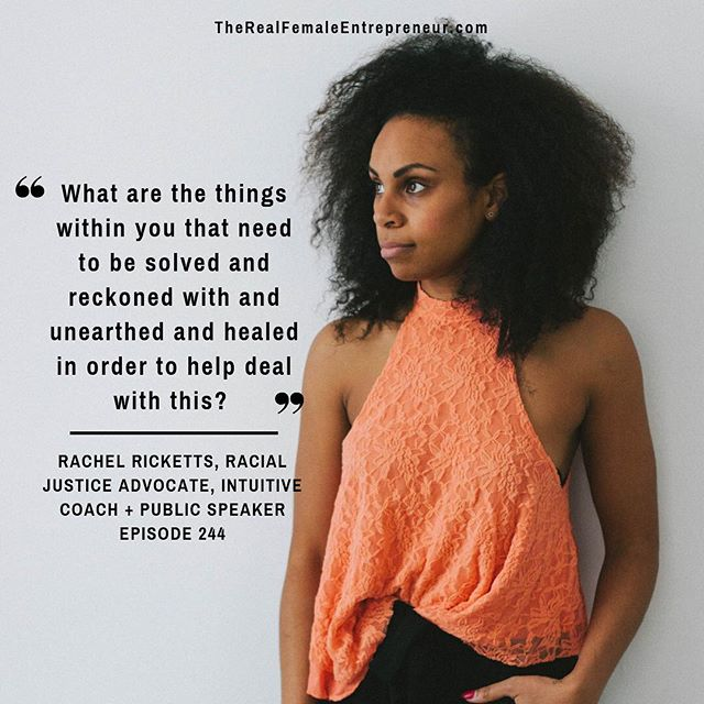 A Sunday soul question to dig into today 💕✨ P.S. this season 6 finale episode with @iamrachelricketts is an invitation, especially for my fellow white women who are leading communities and curating spaces, both online and off. I hope you'll accept. xx