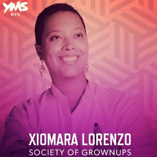 Repping @SocietyofGrownups @voxburner #YMS17 conference. Just wrapped up the morning keynote wearing #XLDS. . . TFW your 9-to-5 hustle and your side hustle come together = glorious 🙌🏾🙌🏾🙌🏾 . . Earrings being worn = The Heart . Shop: xldesigns.etsy.com . . . . . . . . . . . . #3Dprint #3Dprintedjewelry #3Dprinting #3Dprinted #sidehustle #jewelry #hoops #makers #etsy #etsywholesale #sculpteo #shapeways #design #designers #accessories #boutique #jewelrygram #picoftheday #geometric #continuous #XLDesigns #ymsnyc #personalfinance #millennials #brooklyn #xiomaralorenzodesigns #fashion #adulting