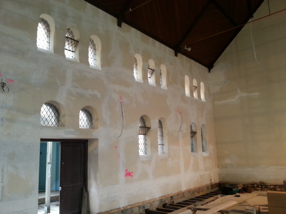 This is a Church in the city that we were in the process of repairing the cracks and loose solid plaster!