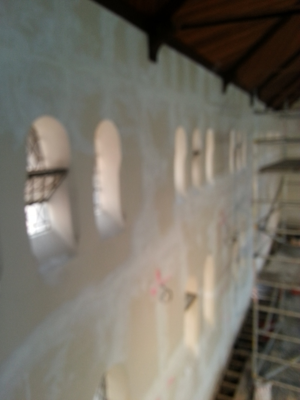 Repairs to solid plaster.