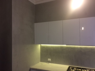Polished concrete splash back