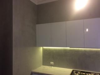 Polished concrete splash back