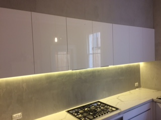 Polished Concrete splash back.