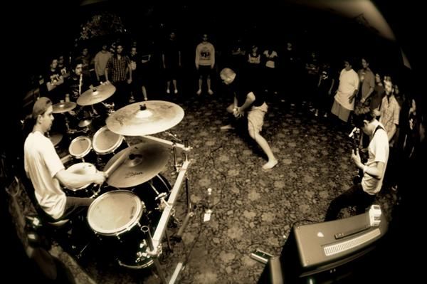 Playing drums with metal band Judas at the Cobalt Cafe circa 2009.
