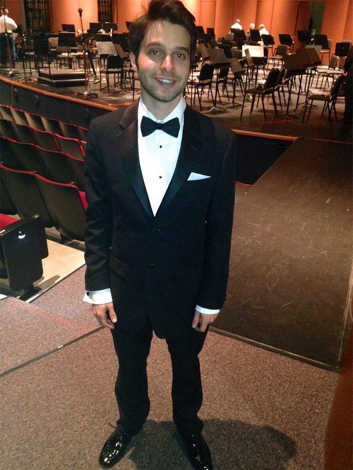 After LA Pierce Symphonic Wind's December concert at Calabasas Performing Arts Center. (2013)