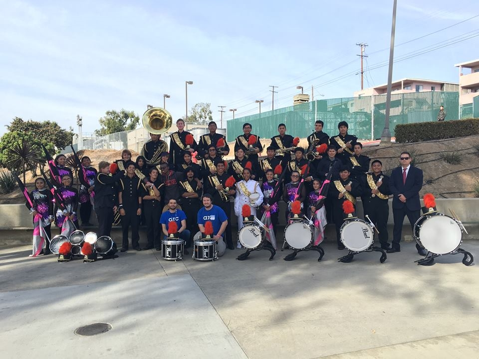 With the Grant High School Marching Lancers, who I instructed in 2015. This photo was taken after their final competition of the year!
