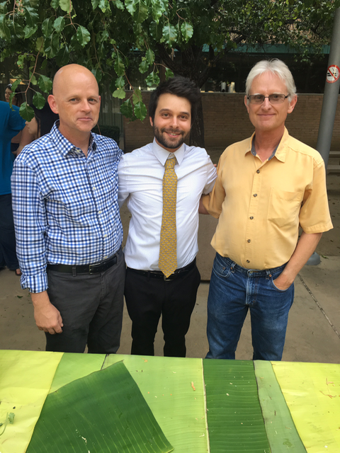 After my Bachelor of Music Recital, in between my two primary teachers and mentors at CSUN: Aaron Smith (left) and John Magnussen. May, 2016