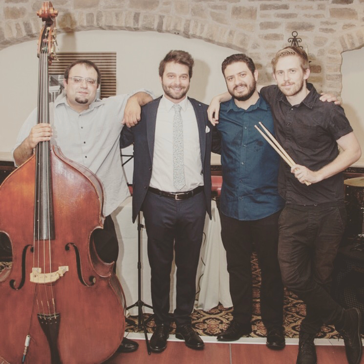 Playing jazz with great friends: (from left), Tigran Nersissian, Emerson Wahl, Roget Chahayed, and Taylor Dexter. Summer, 2016