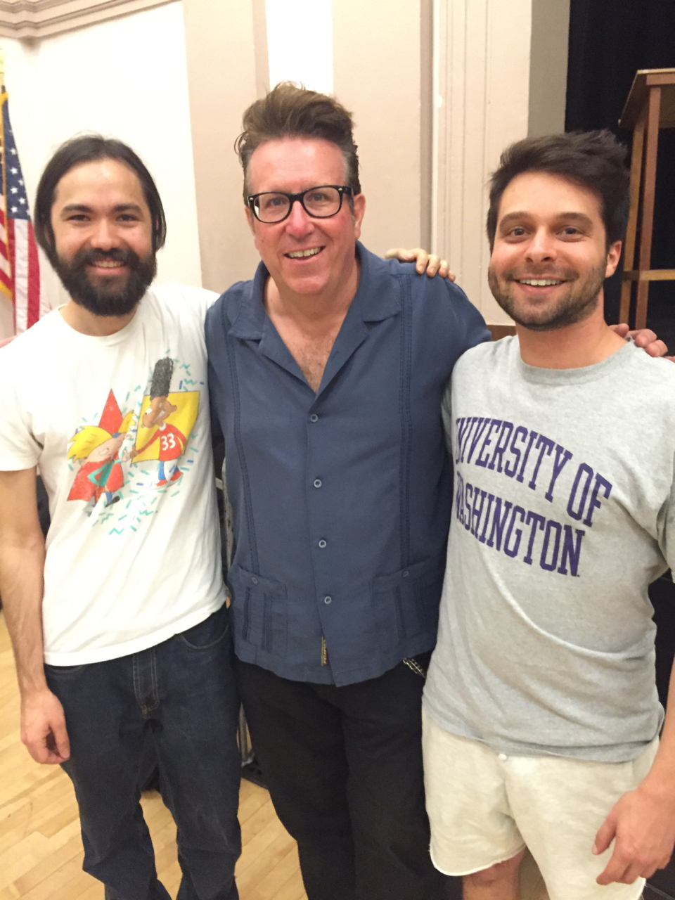 Jonathan Palmquist (left), Bernie Dresel (middle), and myself at rehearsal with the West Coast Symphony in Santa Barbara. Summer, 2016