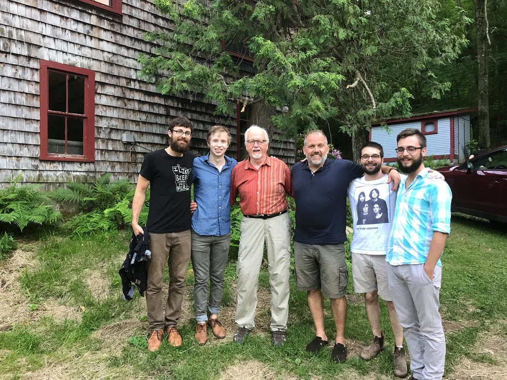 2017 New Music on the Point percussionists. L-R: Nick Fox, Tony Kirk, Jan Williams, Stuart Gerber, Emerson Wahl and Bryan Wysocki.   Unforgettable music-making in Vermont!
