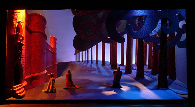Eerie and dreamlike - David Hockney set for Tristan und Isolde [from a conversation w/ Zoe]