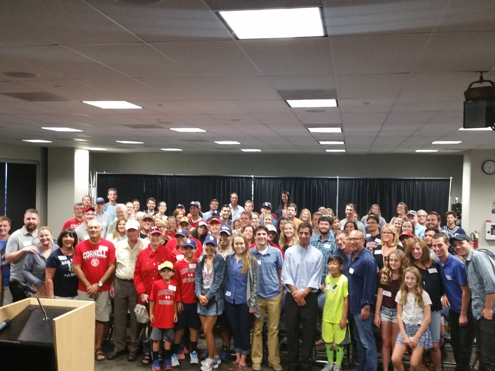 100+ Cornell Alumni & family & friends with AJ Preller.jpg