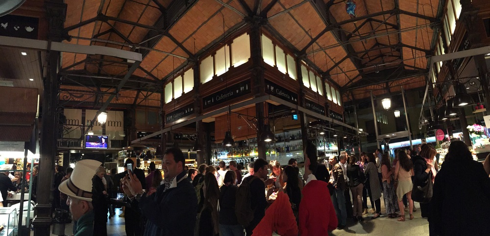 Mercado de San Miguel is one of my favorite places in Madrid. It's packed with so many small vendors selling everything from produce to fresh seafood, pizza to paella, beer to wine and tapas to desserts. We've been there twice on our trip and I'm hoping to go one more time before we leave!