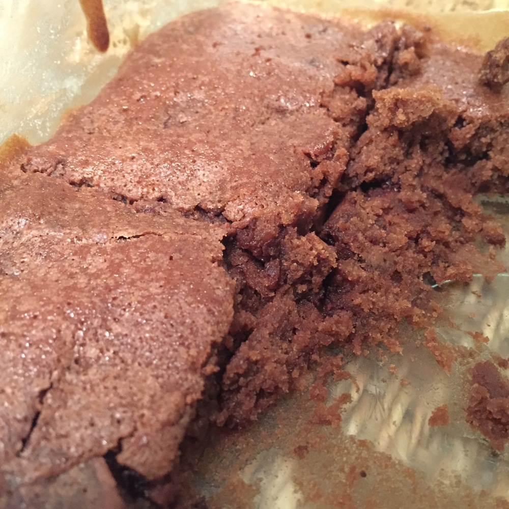 Not the best photo of the brownies I made but that's how you know it was good. I ate most of it before I could take a photo.