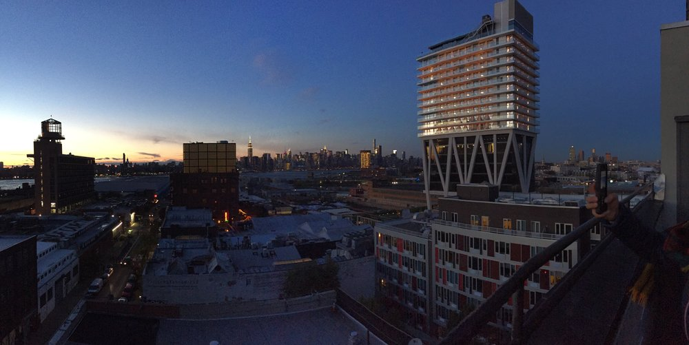 A view of Brooklyn and Manhattan from Alison's rooftop. Just breathtaking.