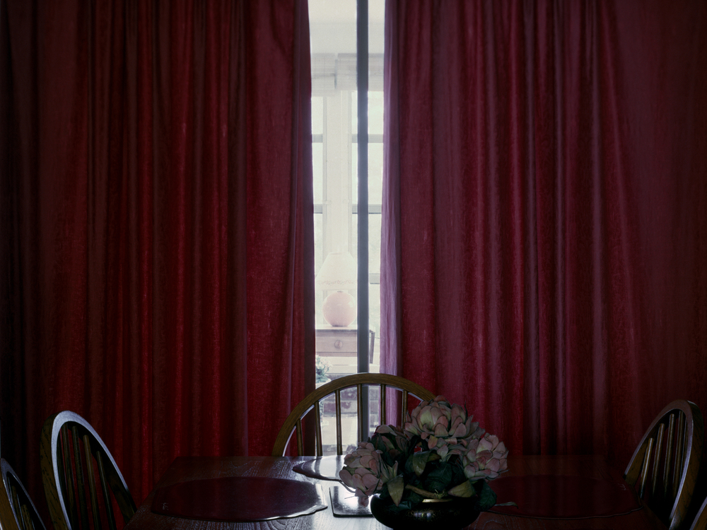 Table and Curtains
