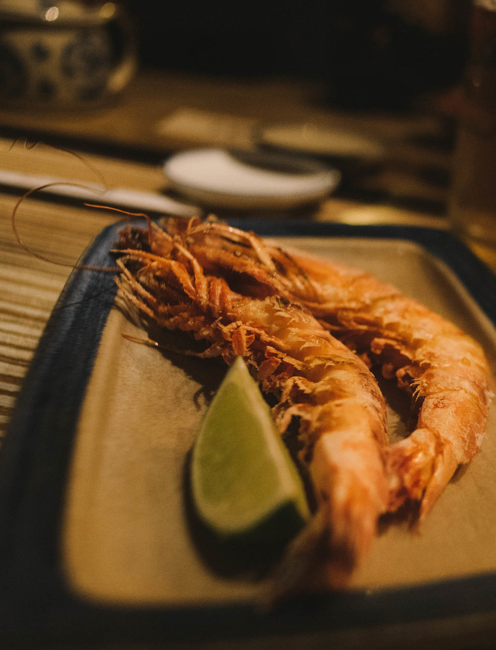 - grilled king prawn