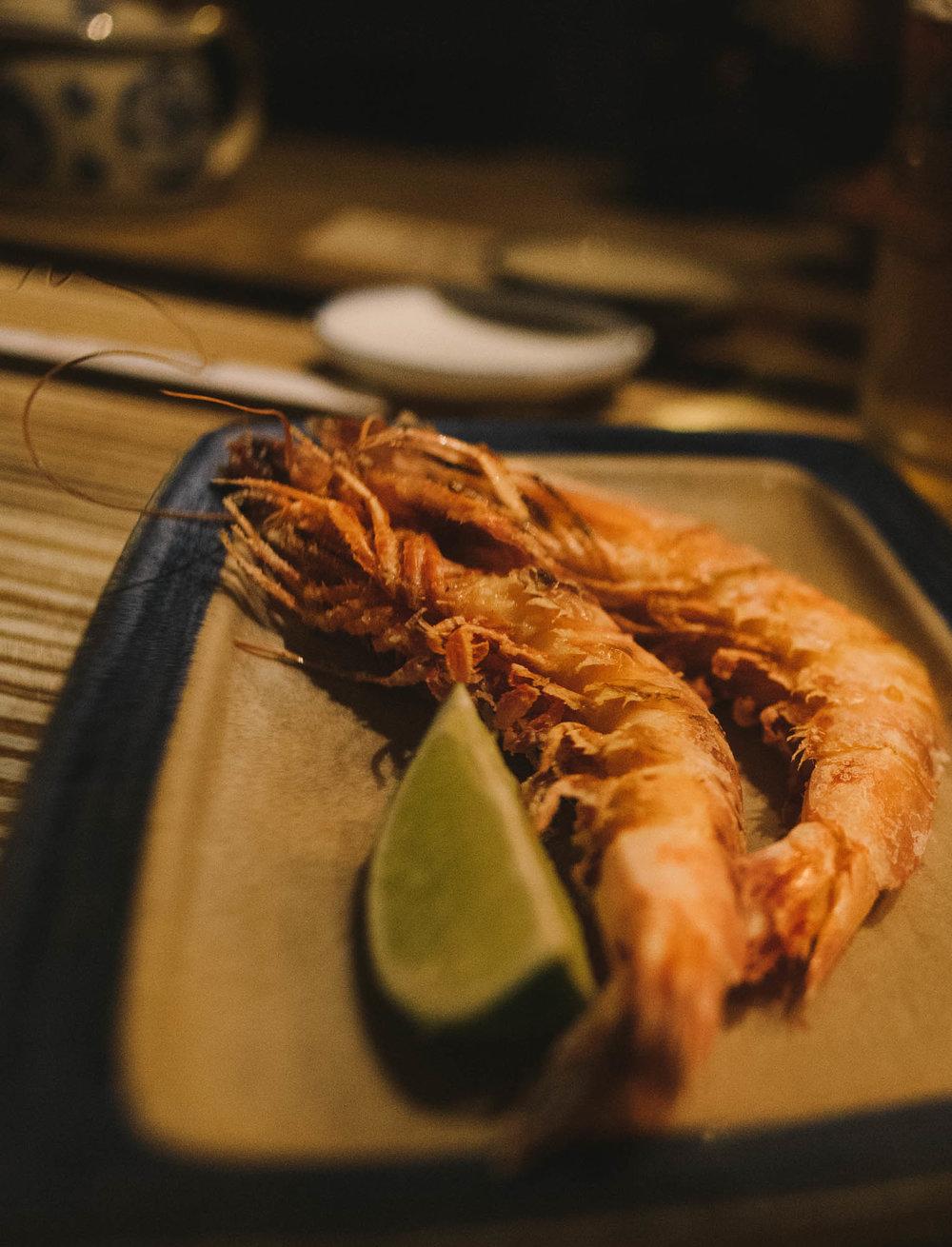 - grilled king prawn