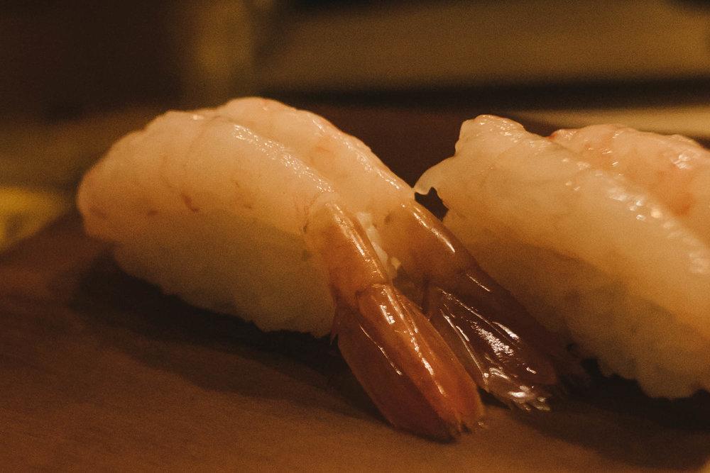 - shrimp nigiri
