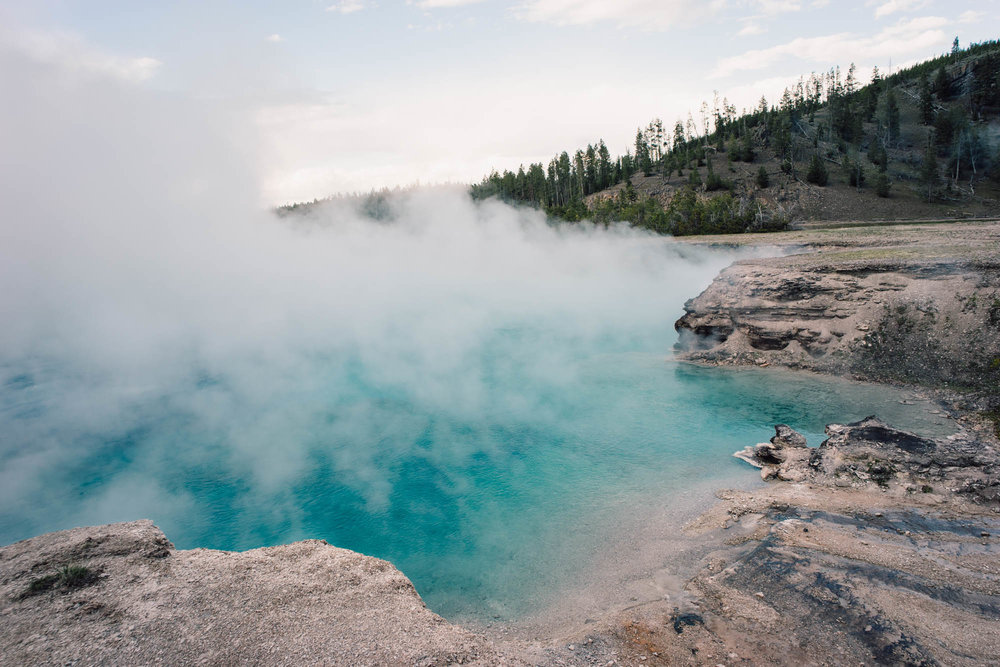 THIRD LARGEST HOT SPRING IN THE WORLD - the largest hot spring in the United States and third largest in the world is here in Yellowstone
