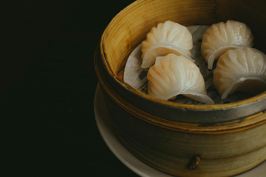 - crystal shrimp dumplings