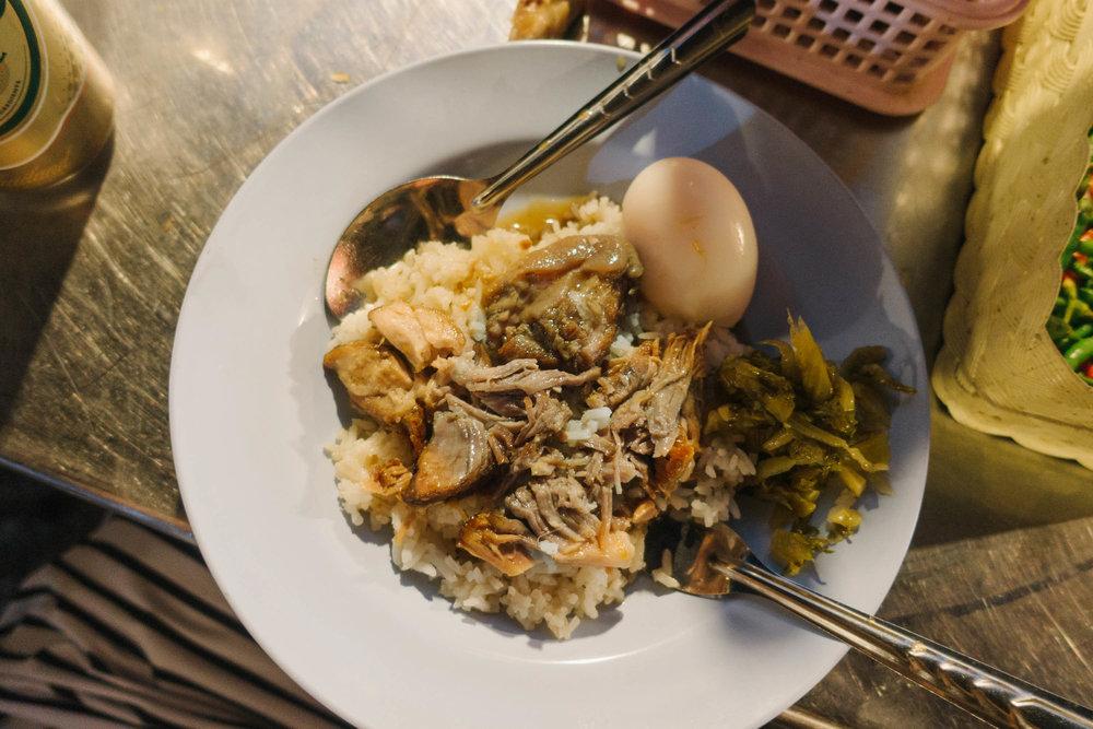 pork leg over rice -