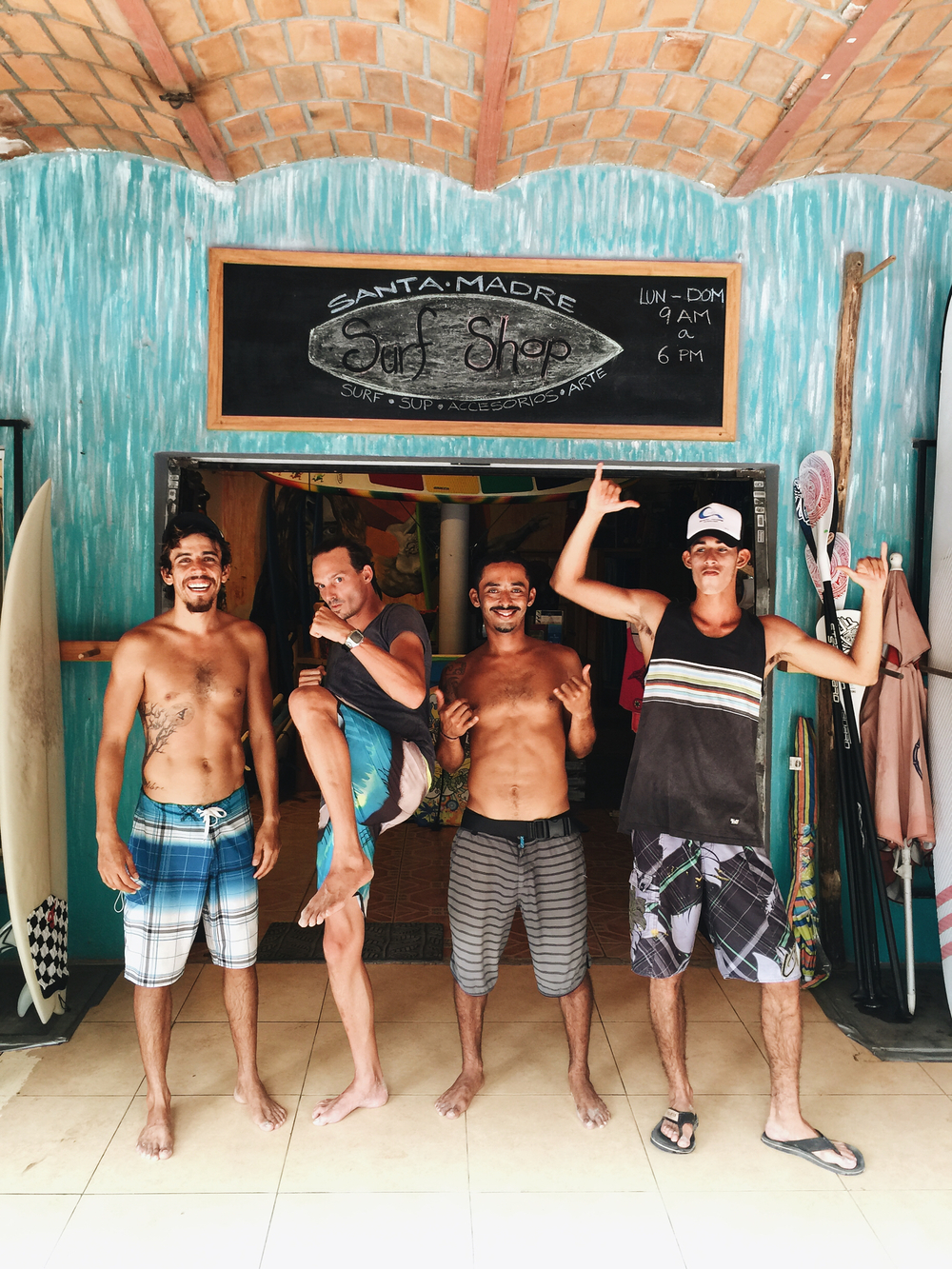 Meet your surf instructors from Santa Madre.
