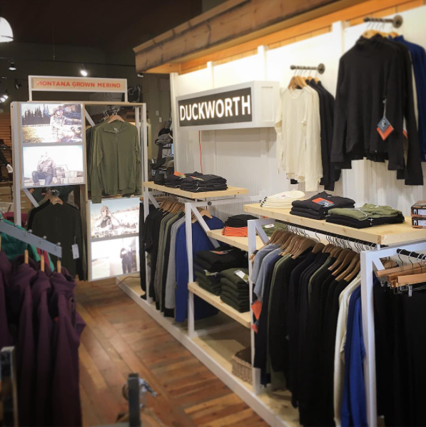 Duckworth Wool Retail Display
