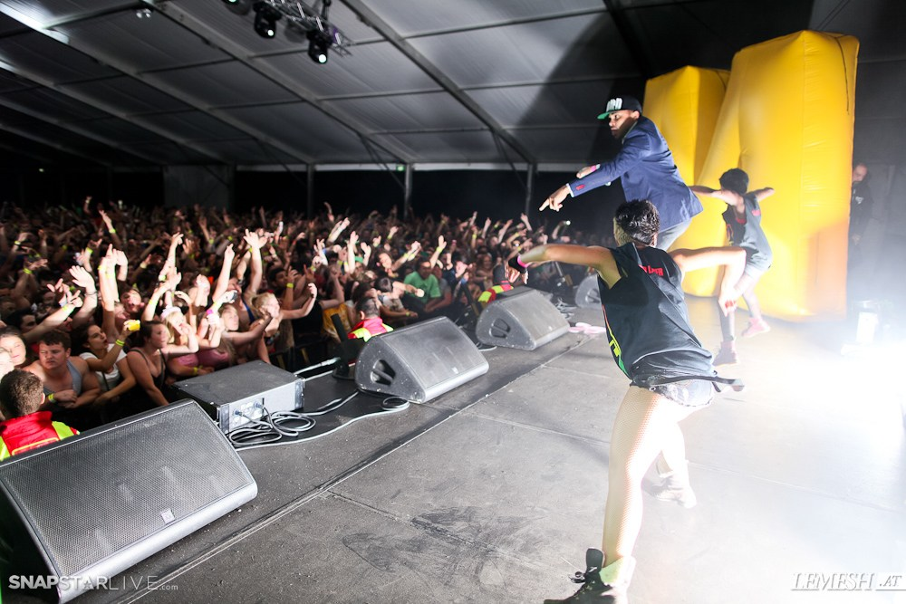 MAJOR LAZER Oceania Tour @ Our House Festival 2012 - Auckland, NZ
