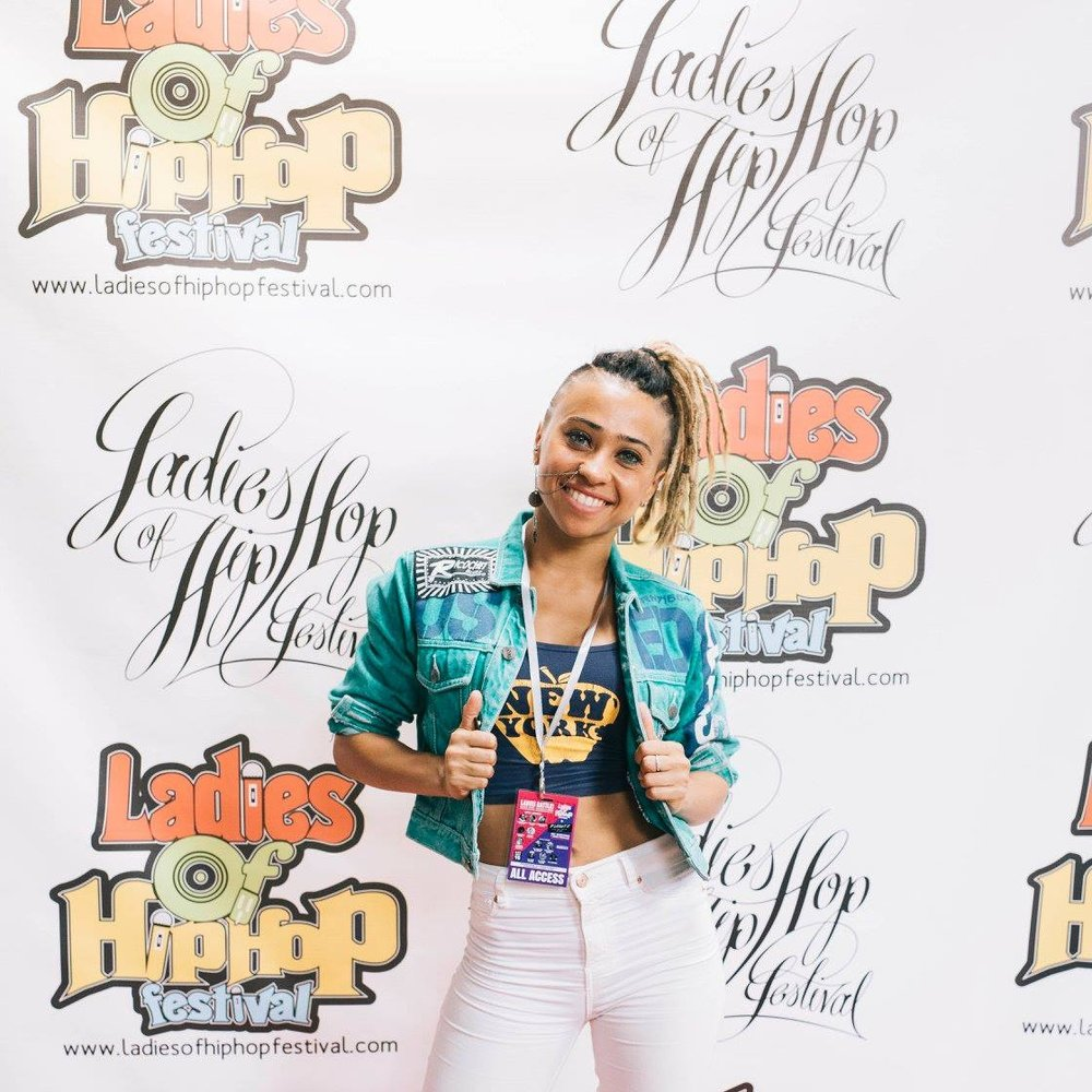 Photo by Melika Dez for Ladies of Hip Hop Festival 2017 (Dancehall Judge)