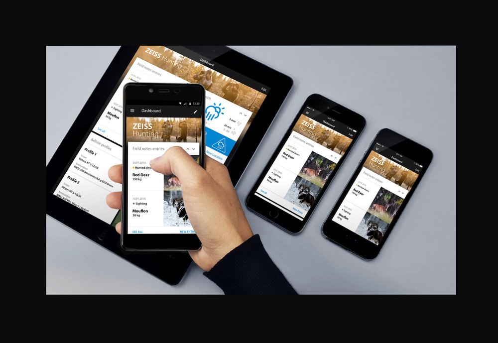 ZEISS HuntingApp platforms tablet smartphone