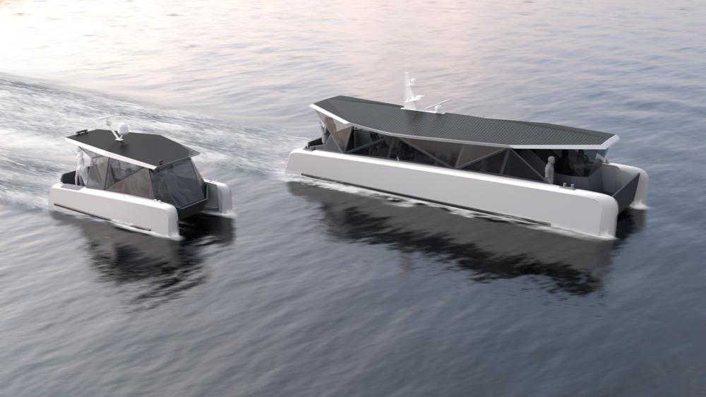 Solar fuelled ferry - Marine design