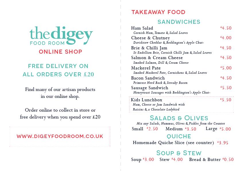 Digey Food Room Menu 6