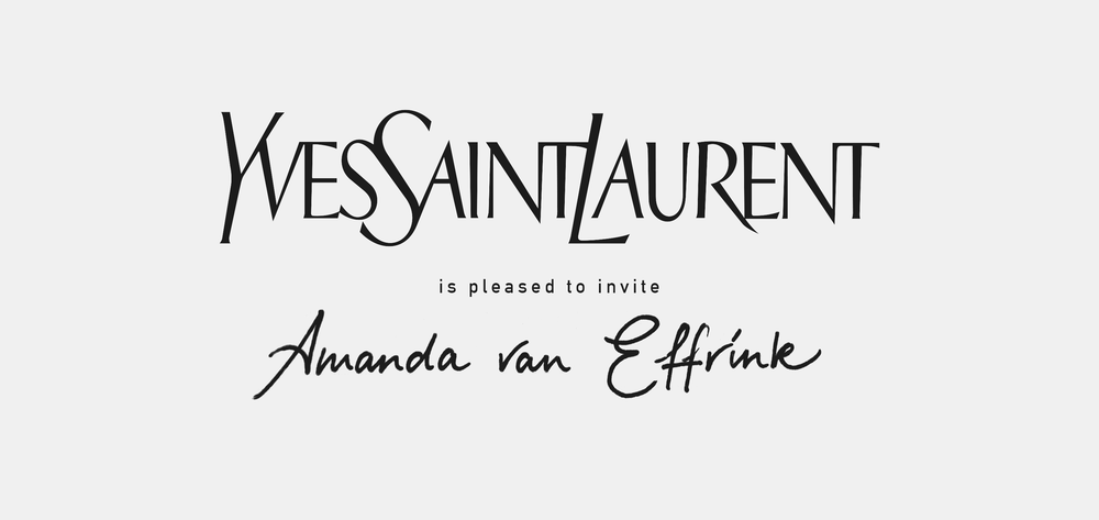 YVES SAINT LAURENT LETTERING / CALLIGRAPHY