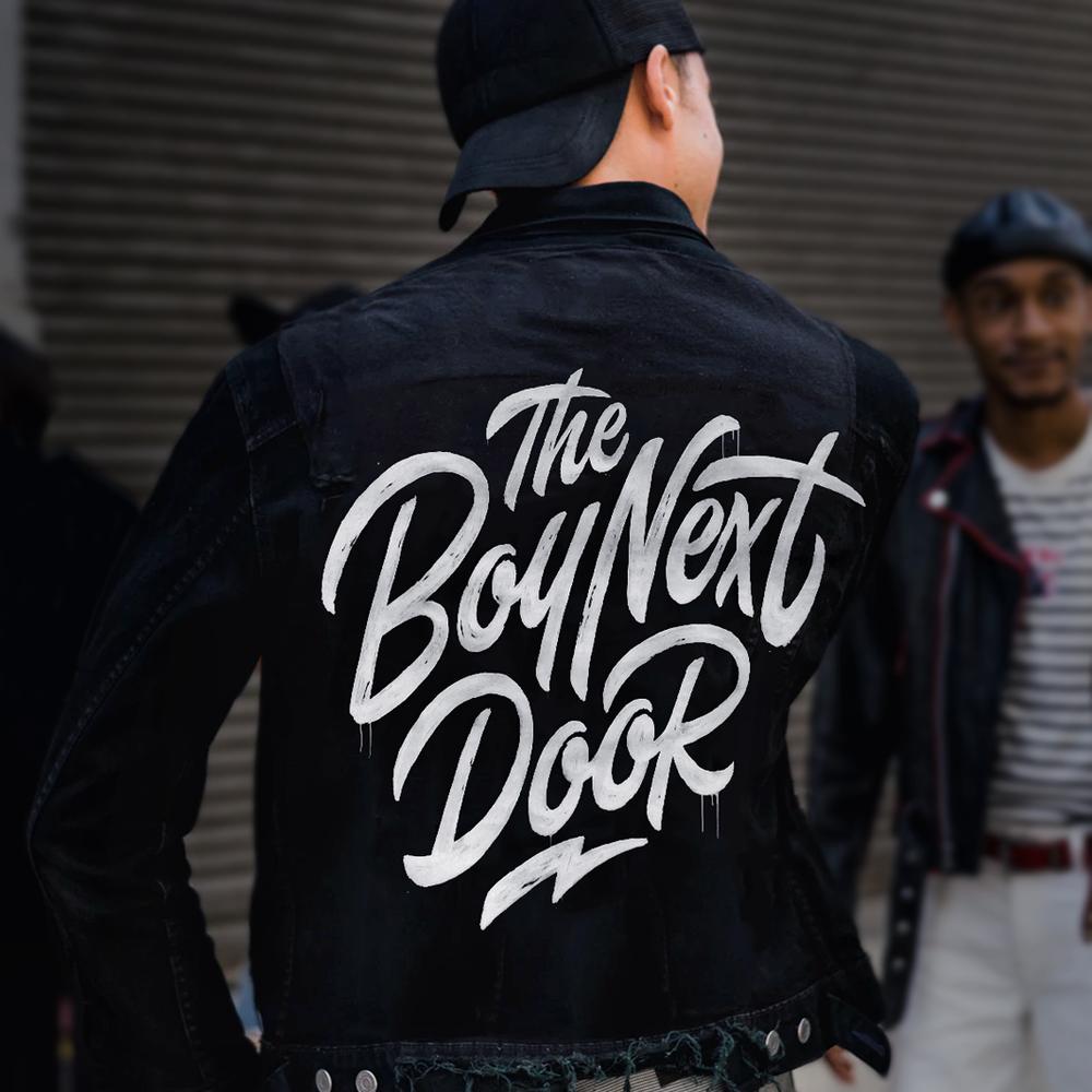 THE BOY NEXT DOOR (DJ)  LOGO DESIGN
